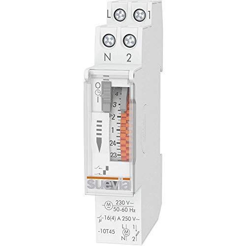 Suevia tijdschakelaar voor rail Dino One D SU400132 bedrijfsspanning: 230 V/AC 1 NO (T) 16 A 250 V/AC Pro