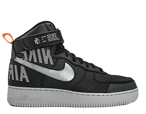 Nike Herren AIR Force 1 HIGH '07 LV8 2 Basketballschuhe, Mehrfarbig (Black/Wolf Grey-Dark Grey-Total Orange 001), 41 EU