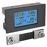 電圧チェッカー ALLPOWERS DC マルチメーター 6.5〜100V 100A 電流電圧計 テスター デジタルをLCDで表示 青いのバックライト