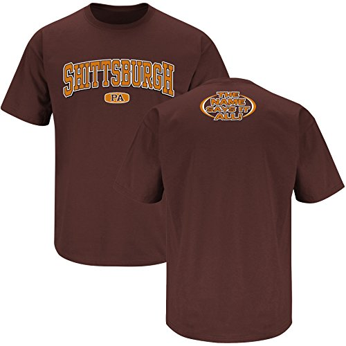 Cleveland Football Fans. Shittsburgh, PA Brown T Shirt (Large)