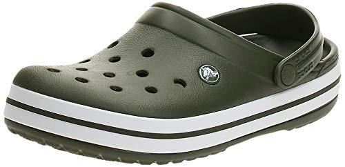 Crocs Crocband Clogs, Ciabatte Unisex – Adulto, Verde (Army Green/White), 42/43 EU