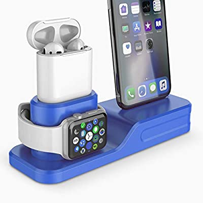 Amazon - Save 66%: Coffea 3-in-1 Charging Station for Apple Watch, AirPods & iPhone (Blue)