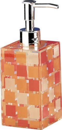 SANWOOD 6841930 Mosaik Seifenspender, Polyresin, orange