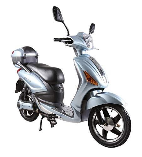 Tecnobike Shop Scooter Bicicletta Elettrica a Pedalata Assistita Z-Tech ZT-09-AL 250w 12Ah Batteria al Litio (Azzurro - Silver)