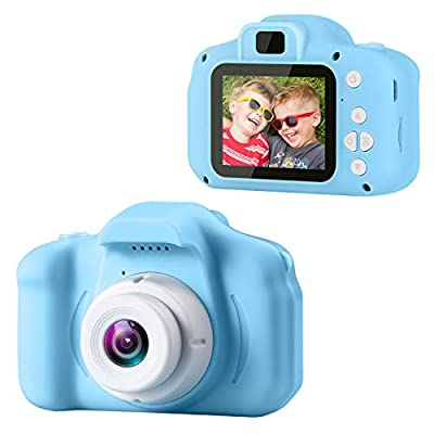 GKTZ Children's Camera Digital Kids Cameras with 2 Inch IPS Screen Rechargeable Video Camcorder Camera Toys Gifts for 3 – 8 Year Old Boys and Girls from GKTZ
