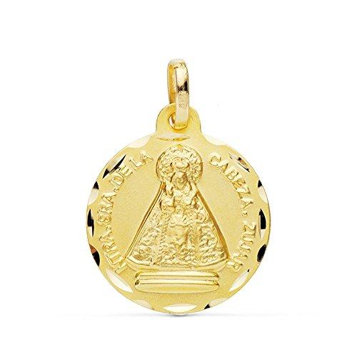 Medalla Oro 18K Virgen De La Cabeza Zújar 18mm. [Ab4796]