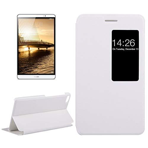 GGQQ YDYX AYDD para Huawei-MEDIAPAD M2 VERAJA Juventud DE JÓVENES 7.0 Litchi Texture Caja de Cuero Horizontal Flip con Titular y Ventana Inteligente (Color : White)