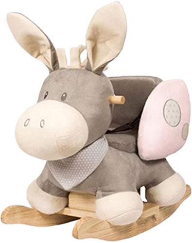 Nattou Schaukeltier Esel Cappuccino, 10 - 36 Monate, 60 x 39 x 50 cm, Rosa