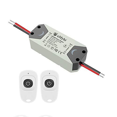 Modulo relè wireless eMylo Smart WiFi RF Interruttore relè wireless 5V-36V Controller 1 canale Timer Elettrodomestico 12V 433 MHz Supporto Alexa/Google Home tramite Iphone Android