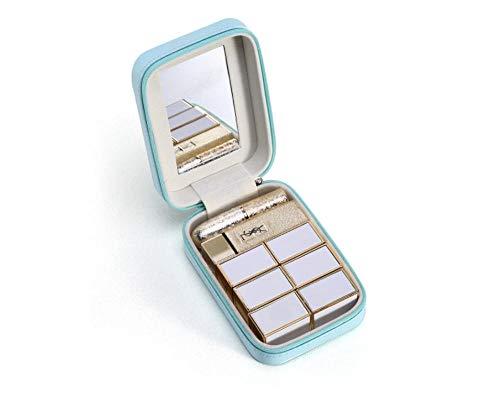 Sac cosmétique avec Miroir Petite boîte de Rangement de Maquillage de Transport Mini Cadeaux Trousse de Toilette 13 * 9 * 4.5 cm-Sky_Blue_13 * 9 * 4.5_cm