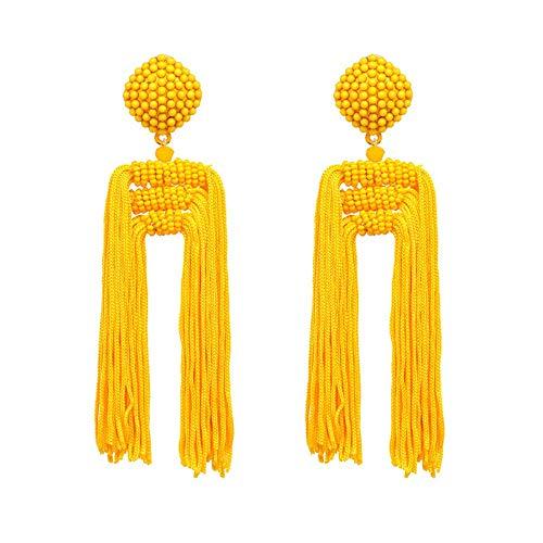 Joyas de moda Boho Pendientes de borla Chica con pendientes de borla Colgante Colgante Colgante Pendiente Color