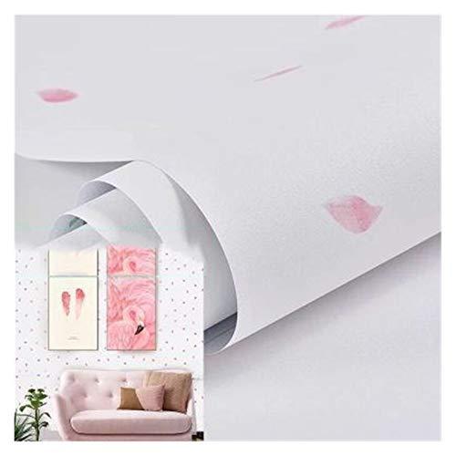 HYCSP Tapete Selbstklebende Schlafzimmer wasserdicht warmen rosa Tapete Schlafsaal Wandaufkleber dekorative Tischschrank Möbel (Color : White Petals, Size : 3mx60cm)