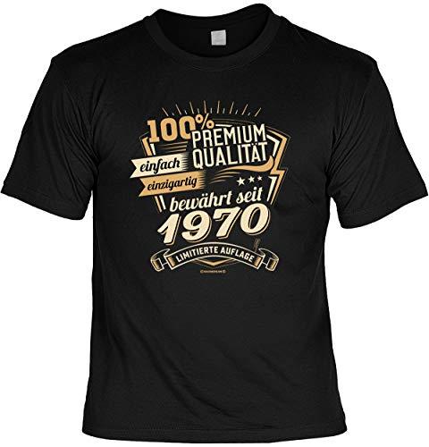 Cooles T-Shirt zum 50. Geburtstag T-Shirt mit Urkunde 1970 Limitierte Auflage Geschenk zum 50 Geburtstag 50 Jahre Geburtstagsgeschenk 50-jähriger