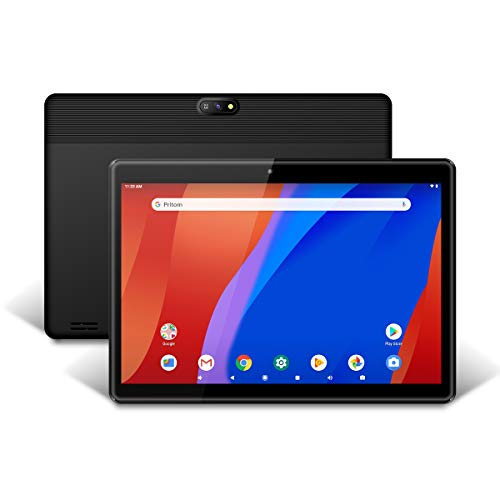 Android Tablet platform 10 inch Android 9.0-tablet, 2 GB RAM, 32 GB ROM, Quad-Core-processor, HD IPS-scherm, 2.0 voor- en 8.0 MP-achteruitrijcamera, wifi, Bluetooth, tablet-PC (zwart)