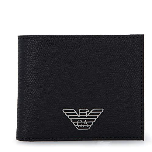 Emporio Armani Twin Wallet Hombre Gift Set Negro