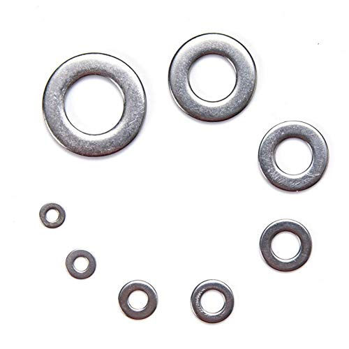 Calidad superior Lavadora 1010PCS Conjunto M2 M3 M4 M5 M6 M8 M10 M12 Lavadora de acero inoxidable Lavadora de acero inoxidable Anillo Lavadora de anillo Lavadora Plaza Juego de surtido Accesorios de s