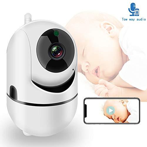 ZTKBG WiFi-Baby-monitor met camera 1080P HD video babyslaap Nanny Cam tweeweg audio nachtzicht Home Security Babyphon camera, 128g