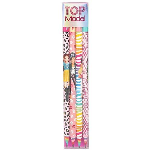 Depesche 8770 Bleistiftset TOPModel, 4 Stück im Etui