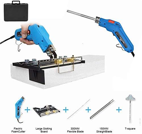 HUKOER Foam Cutter - Pro Elektrisches Heißmesser 200W - Styropor-Schneidwerkzeug-Kit Messer Heißmesser-Schaumschneider Schaumskulptur-Heißmesserschneider - mit Klingen und Zubehör