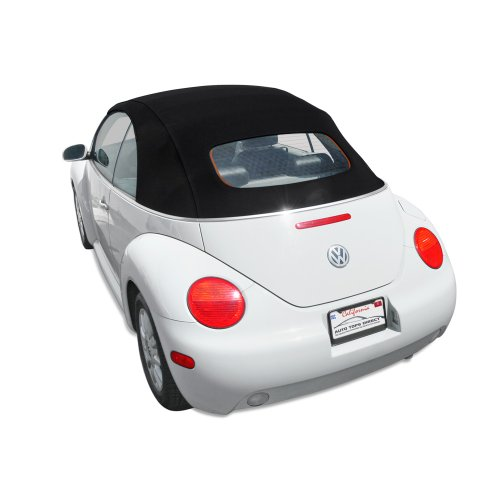 Sierra Auto Tops Convertible Soft Top Replacement, compatible with Volkswagen VW Beetle 2003-2010, Power Opening models, Twillfast RPC Cloth, Black