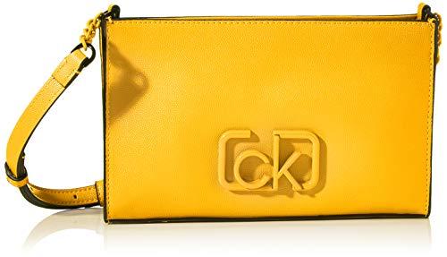 Calvin Klein - Ck Signature Ew Crossbody, Bolsos bandolera Mujer, Amarillo (Scuba Yellow), 1x1x1 cm (W x H L)