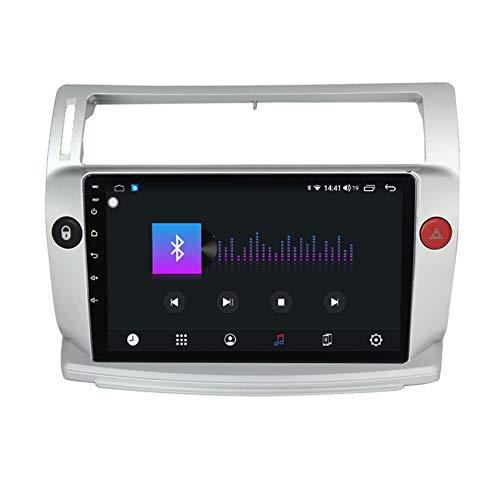 Amimilili Autoradio Estereo para Citroen C4 2004-2009 Multimedia Coche Coche Navegación Admite DSP/Bluetooth/WiFi/Control del Volante/Carplay+Cámara de Respaldo,7862 4g+WiFi:6+128g