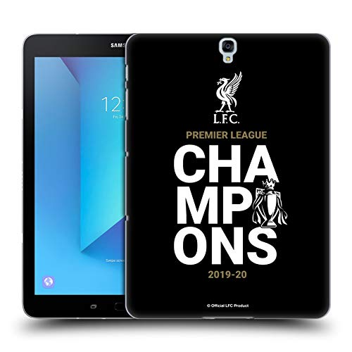 Head Case Designs Officially Licensed Liverpool Football Club Black Typography 2020 Champions Hard Back Case Compatible with Samsung Galaxy Tab S3 9.7
