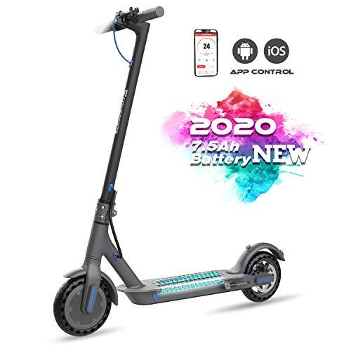 Elektro Scooter Faltbar City Roller Elektroroller 7,5 Ah Langlebig Akku, 350W bis 25 Km/h mit App Bluetooth Funktion 8.5 Zoll Fahrzeug Klappbar Elektroscooter E Roller Scooter