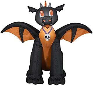 Gemmy 3' Airblown Winged Black/Orange Dragon Halloween Inflatable