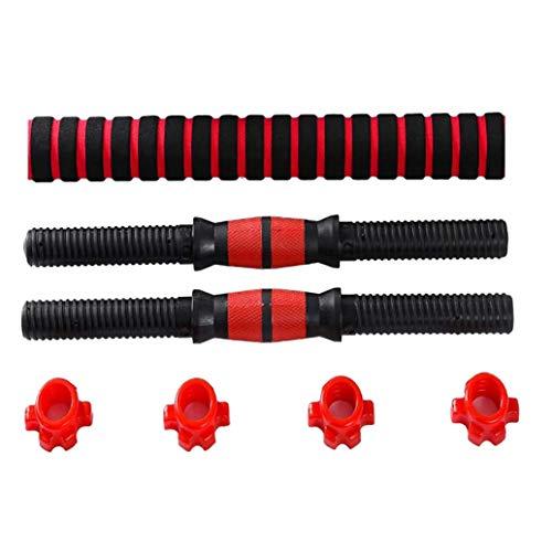 Jcevium - Set di manubri regolabili per sollevamento pesi, 2 aste da 40 cm e 1 barra di collegamento da 40 cm, per palestra e casa