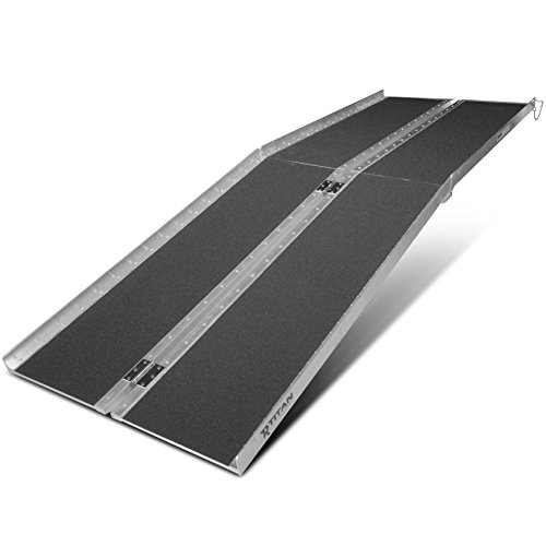 Titan Ramps 8' ft Aluminum Multifold Wheelchair Scooter Mobility Ramp portable 96' (MF8)
