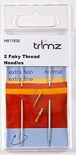 TSL 2 x snag trollkarl nålar, metall, silver, 10,5 x 5 x 0,5 cm