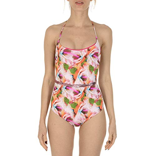 La Perla Abstract Print Sequined One Piece Swimsuit (4)