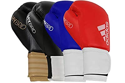 adidas Boxing Gloves - Hybrid 100 - Gloves for Men and Women - Boxing, Kickboxing, Training, Cardio (Black/Gold, 16 oz)
