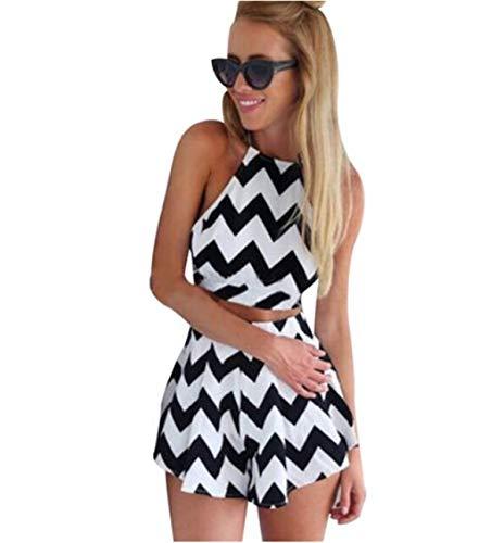Dames tanktop + shorts elegante tweedelig festival zomer mode feestelijk strepen mouwloos bovenstuk mode trendy cocktail strand vakantie joggingpak set