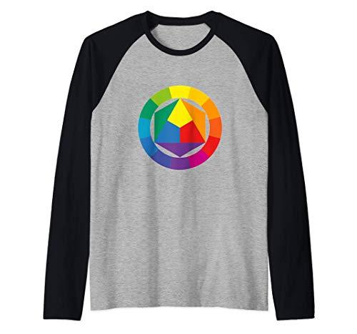 Farbrad Palette Hemd Künstler Maler Kunstlehrer T-Shirt Raglan