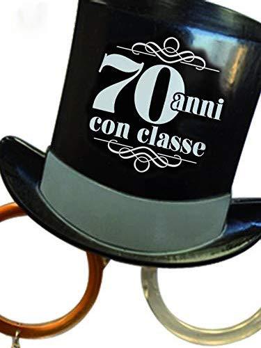 Gafas Party 70 años – Gafas cilíndricas de los años setenta – Gadget apasionante para el séptimo cumpleaños