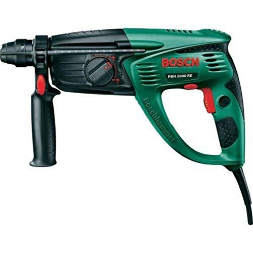 Bosch Bohrhammer PBH 2800 RE (Flachmeißel, Tiefenanschlag, Zusatzhandgriff, Koffer (720 W, Bohr-Ø Beton 26 mm))