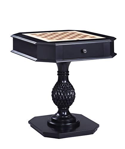 acme Bishop II Game Table, Black Black//Transitional