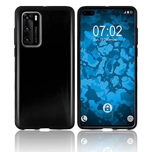 PhoneNatic Custodia Compatibile con Huawei P40 Cover Nero Trasparente P40 in Silicone Cover