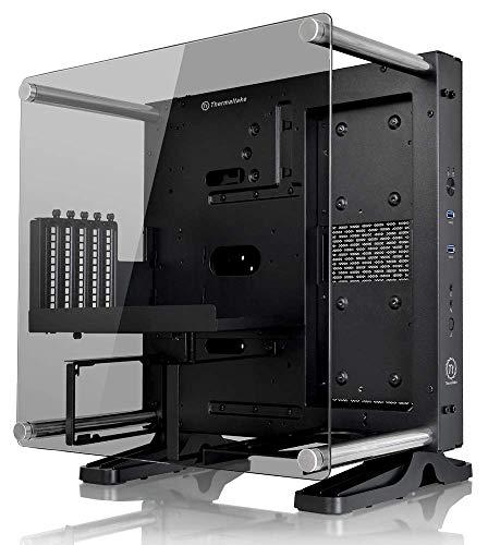 Thermaltake Core P1 edizione in vetro temperato Mini ITX Open Frame Panoramica Visualizzazione Tt LCS certificata Computer da Gioco CA-1H9-00T1WN-00