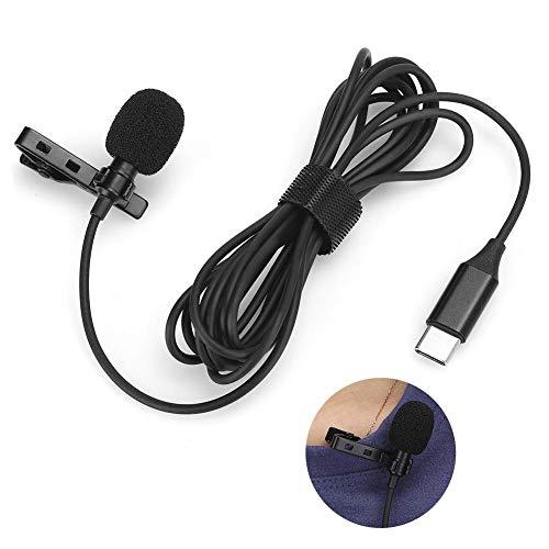 AMONIDA Mini Live tragbares Lavalier-Aufsteckmikrofon, Typ C-Mikrofon, zur Aufnahme eines Interviews