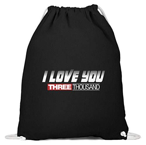 SPIRITSHIRTSHOP I Love You 3000! - Ik hou je eens 3000 - schattig design voor dames, heren en kinderen - katoen gymsac