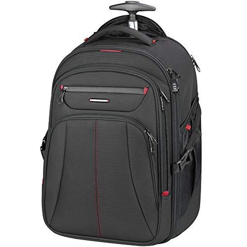 KROSER Laptop Trolley Rucksack Laptop Handgepäck Tasche Pilotenkoffer Aktenkoffer Mit Rollen Koffer Wasserdicht für bis zu 17 Zoll Laptop mit RFID-Taschen für Reisen/Business/Männer/Frauen MEHRWEG