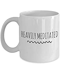 CafePress Heavily Meditated Unique Coffee Cup