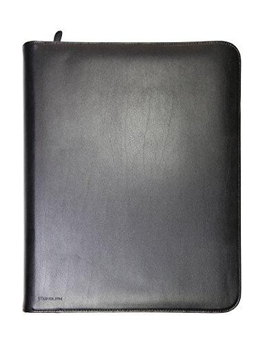 Monolith 2000002924 - Konferenzmappe mit 4-Ring-Mechanik, Leder, Tabletfach, Schreibblock, Reißverschluss