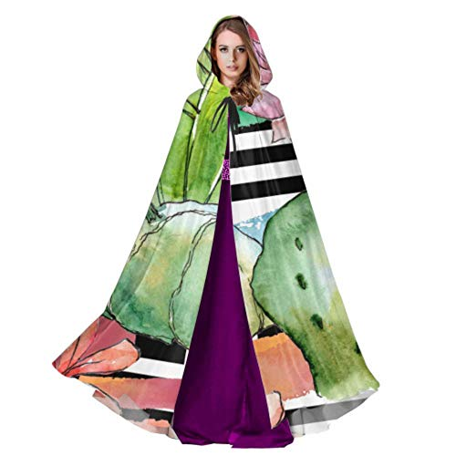 LONGYUU Green Summer Tropical Cactus Adult Cloak Men Cape Cloak ...