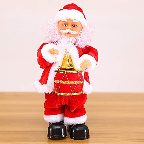Noel Figura Santa Claus muñeca monopatín eléctrico Juguete de los niños Cantando,...