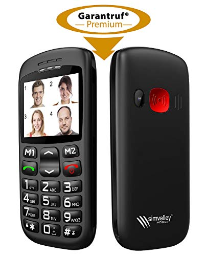 simvalley MOBILE Mobiltelefon: Komforthandy mit Bluetooth, Garantruf, Foto-Kontakten und Ladestation (Komfort Handy)