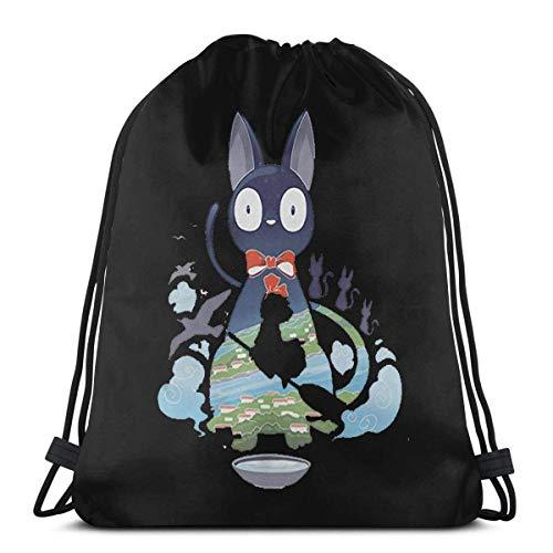 Mochila con cordón Kiki 's-Delivery-Service-Flying-Jiji Lightweight Sport Gym Sackpack Cinch Bags para senderismo Travelling School